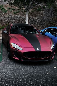 #Maserati #GranTurismo - Loving the dark red and black. #Italian #SuperCar #Speed #Design #Beauty #Style #Luxury
