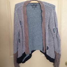Chaser Distressed Sweater Lined distressed sweater Chaser Sweaters Cardigans