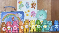 Care Bears! I had them all, plus their house, cloud car & the Pizza Hut glasses. Give 'em your Care Bear stare!