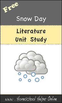 Free Literature Unit Study based on Snow Day - Homeschool Helper Online Preschool Themes, Preschool Printables, Preschool Kindergarten, Preschool Activities, High School Writing, Unit Studies, Homeschool, Curriculum, Book Crafts