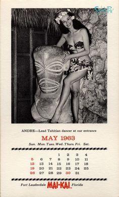 Mai-Kai calendar May 1963