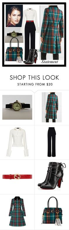 """Statement"" by jusal08 on Polyvore featuring Miu Miu, Brandon Maxwell, Roland Mouret, Gucci and Christian Louboutin"