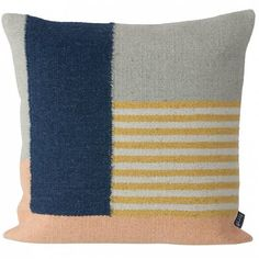 Ferm Living Kilim Cushion White Lines 50x50cm
