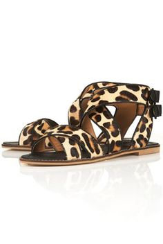 Leopard sandals from Top Shop - love!