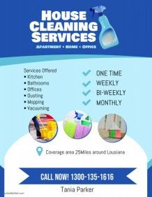 House Cleaning Services Flyer Poster Template Cleaning Service Flyer Cleaning Service Cleaning Flyers