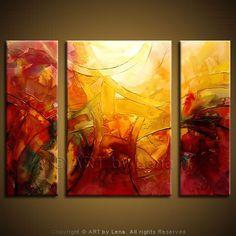 """Virage"" - Original Abstract Art by Lena Karpinsky, http://www.artbylena.com/original-painting/556/virage.html"