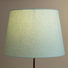One of my favorite discoveries at WorldMarket.com: Sea Blue Linen Table Lamp Shade