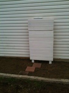 Great way to cover your unsightly meter on the side of the house!