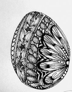 zentangle easter eggs - Google Search