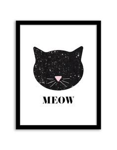 Print out this galaxy cat print to hang on your gallery wall.
