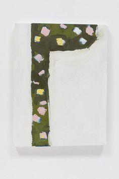 Richard Aldrich  Untitled  2008 Shaped canvas, oil and wax on muslin 37.5 x 26.7 cm