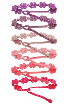 Cruciani bracelets ~ flowers aren't really me but I love the colours!