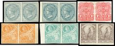 NEW SOUTH WALES - 1899 Chalk-Surfaced Paper Imperforate Pairs of ½d x2 (shades), 1d, 2d, 2½d (minor toning), 4d Captain… / MAD on Collections - Browse and find over 10,000 categories of collectables from around the world - antiques, stamps, coins, memorabilia, art, bottles, jewellery, furniture, medals, toys and more at madoncollections.com. Free to view - Free to Register - Visit today. #Stamps #MADonCollections #MADonC South Wales, 2d, Bottles, Stamps, Coins, Auction, Collections, Australia, Jewellery