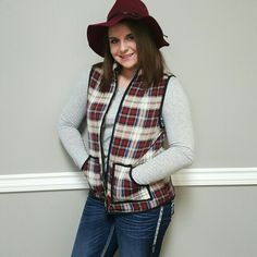 New plaid vests just in...burgundy and teal! also available on the website www.shopbellame.com for 30% off for our Cyber Monday sale!  #plaid #vest #winterfashion #keepwarm #winter #denim #jeans #boots #booties #style #ootd #newarrivals #ogden #northogden #love #l4l #utah #utahboutique #musthave #shopbellame