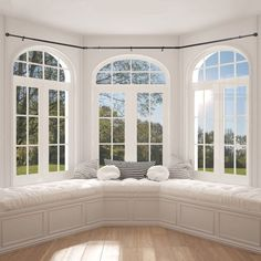 Mar 2020 - Better Homes & Gardens Bay Window Adjustable Drapery Rod Set, Bronze Home Renovation, Home Remodeling, Room Additions, Building A New Home, Window Styles, Window Design, Better Homes And Gardens, Home Interior, Home Decor Bedroom