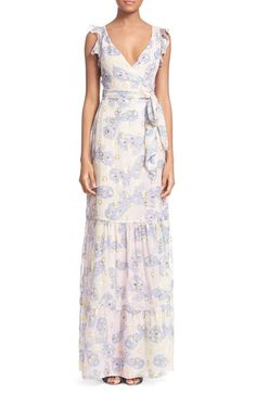 Diane von Furstenberg 'Stephanie' Butterfly Print Silk Maxi Dress available at #Nordstrom