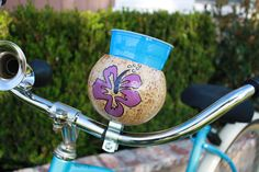 $25 Purple Hibiscus - Cupholder for bike