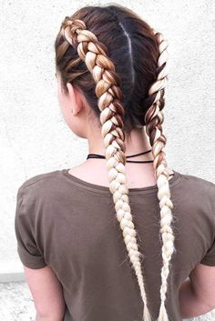 Double Dutch braids are so versatile, so you can wear them every day or for a night out. See our photo gallery of the trendiest braided hairstyles. #ad