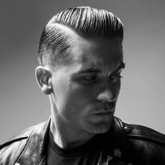 Slick- G-Eazy Haircut - Comb Over with Hard Part and Low Fade