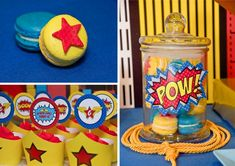 wonder woman super hero macarons