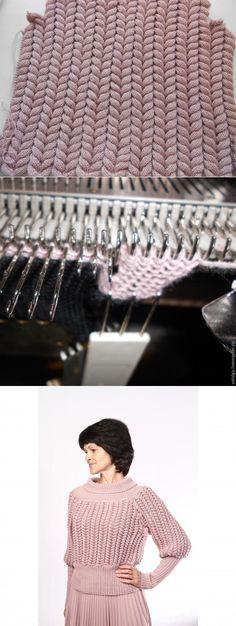 Учимся делать узор «Азиатский колосок» на вязальной машине - Ярмарка Мастеров - ручная работа, handmade
