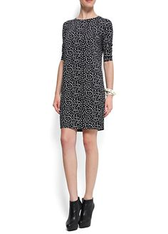 MANGO - NEW! - Bow-embellished dress - Someone get this.
