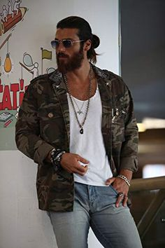 Can Yaman in Episode Turkish Men, Turkish Beauty, Turkish Fashion, Turkish Actors, Long Beard Styles, Long Hair Styles, How To Look Handsome, Stylish Boys, Hipsters