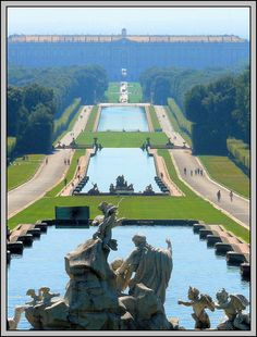 Reggia di Caserta, Caserta. 18th-Century Royal Palace at Caserta with the Park, the Aqueduct of Vanvitelli, and the San Leucio Complex. #Unesco #Expo2015 #Italy