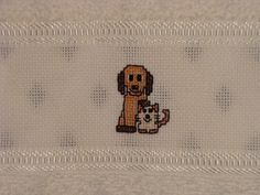 Toalha de mão - Cão e gato