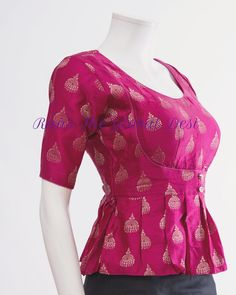 New dress pattern baby ideas Ideas Saree Blouse Neck Designs, Choli Designs, Fancy Blouse Designs, New Dress Pattern, Stylish Blouse Design, Designer Blouse Patterns, Creations, Wedding Dress, Wedding Reception