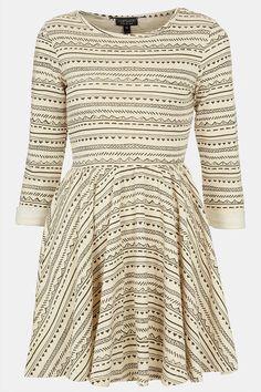 Topshop Textured Skater Dress