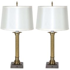 Pair of French 1940's Neoclassical Lamps