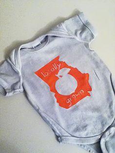 Freezer Paper Stencil Tutorial- Georgia Peach State Shirt