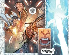Darkseid's father Yuga Khan aka Zonus fighting Captain Marvel SHAZAM