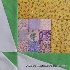 Moore About Nancy: Pieced Bouquet quilt block