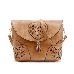 Vintage Casual Women Bag Hollow Out Crossbody Bags PU Leather Small Shoulder Bag Brand Women Messenger Bags Bolsas femininas