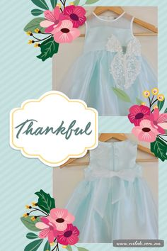 Gorgeous Mint 'Lily' Dress available sizes from 12m to7y!