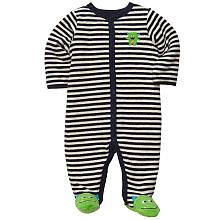 Carter's Boys Embroidered Stripe Monster Sleep N' Play with Applique and Foot Art