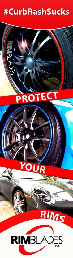 Friends don't let friends get wheel damage. Protect your rims with #RimBlades - #CurbRashSucks