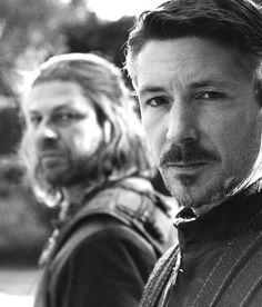 Lord Eddard Stark and Petyr Baelish ~ Game of Thrones