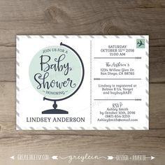 Travel theme baby shower invitations vintage map printables travel theme baby shower invitations globe world map book instead of a card filmwisefo