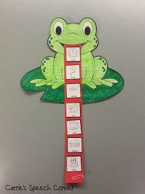 Carrie's Speech Corner: Articulation Frogs ~ A Craftivity