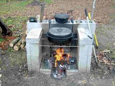 A portable outdoor fireplace can keep your party moving!