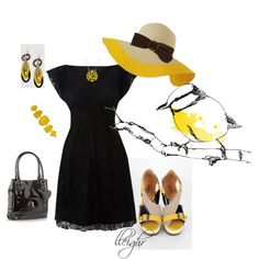 yellow, created by lleighr  perfect Derby outfit
