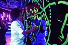 Keep a Child Alive's 13th Annual Black Ball: Keep a Child Alive's 13th annual Black Ball took place at the Hammerstein Ballroomon October 19. The event, which celebrated the spirit of '80s activism in the fight against AIDS, featured a live installation created by British visual artist Shantell Martin.
