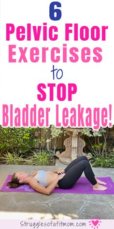 Does postpartum incontinence make you unmotivated to exercise and work toward losing unwanted weight from pregnancy? Discover my favorite 6 exercises to help heal your pelvic floor so you can confidently workout without peeing your pants! Bladder Exercises, Diastasis Recti Exercises, Pelvic Floor Exercises, Prolapse Exercises, Floor Workouts, Gym Workouts, At Home Workouts, Muscle Fitness, Health Fitness