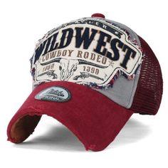 Ililily Salvaje Oeste Parche de estilo vintage con aspecto envejecido  sombrero del Snapback Trucker Gorra de 84a02714324