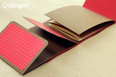 Craftingeek *: Multi-pic: Mini Scrapbook Album for San Valentin Mini Albums, Mini Photo Albums, Mini Album Scrapbook, Paper Bag Album, Mini Album Tutorial, Handmade Books, Scrapbook Paper Crafts, Smash Book, Book Making