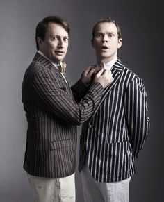 """David Mitchell and Robert Webb. I'm still bummed that they removed """"That Mitchell & Webb Look"""" from Netflix streaming recently."""