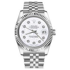 Rolex Datejust Stainless Steel 18K White Gold w Diamonds Jubilee Jubilee 26mm Womens Watch
